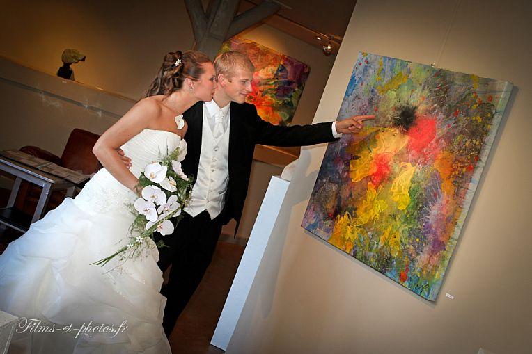 photo mariage dans un musée